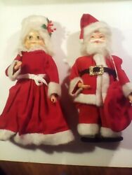Vintage MCM Handmade Dish Soap Bottle Dolls Santa amp; Mrs Claus Christmas Decor. $18.25