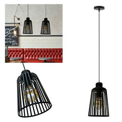 Cage Pendant Light Wire Frame Loft Ceiling Lamp Shades Vintage Industrial Metal $12.08