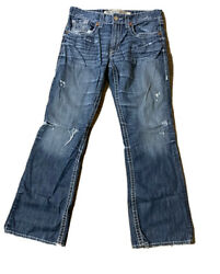 Big Star Men's Orion Slim Boot Distressed Jeans Size 34 X 32 $24.30