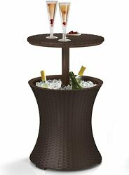 KETER Pacific Cool Bar Outdoor Patio Furniture and Hot Tub Side Table with 7.5 G $99.99