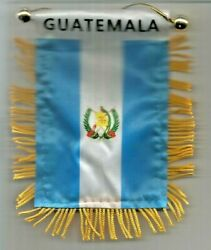 Guatemala MINI BANNER FLAG GREAT FOR CAR amp; HOME Glass HANGING 2 SIDED $4.99