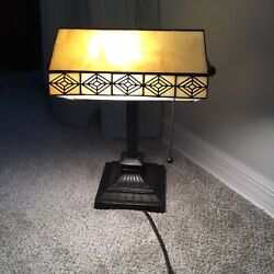 Bankers Desk Lamp Glass Shade $59.99