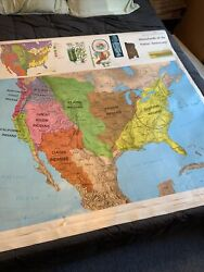 Used Rand McNally American History Series Flip Classroom Map 16 Maps In One $69.95