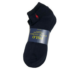 Polo Ralph Lauren Men Socks 6 Pack Navy Low Cut Sport Ankle No Show Red Pony $22.77