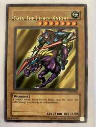Yugioh Gaia The Fierce Knight Unlimited Ed Ultra Rare LOB 006 Misprint Card LP $999.99