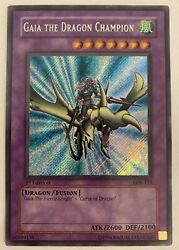 Yugioh Gaia The Dragon Champion 1st Ed Secret Rare LOB 125 NM MINT $1999.99