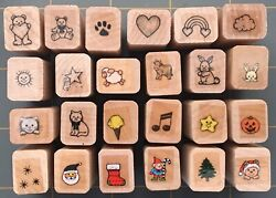 MINI HERO ARTS RUBBER STAMPS ANIMALS LOVE BEARS CAT TEACHER HOLIDAY YOU PICK $3.49