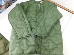 New US MILITARY M65 FIELD JACKET COAT LINER quilted OD Size X Small XS B5 $18.00