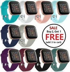 Replacement Silicone Rubber Band Strap Wristband For Fitbit Versa 1 2 Lite Watch $4.89