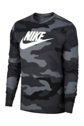 Nike Camouflage Swoosh Print Long Sleeve T Shirt Men#x27;s Large 2XL BNWT
