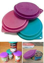 Pet Food Can Covers Assorted Colors 3 1 2 Inches Dogs Cats Pets Lids Reusable $2.87
