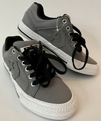 Converse All Star Boys Youth Size 13 Gray Canvas Low Top Sneakers NEW $26.99
