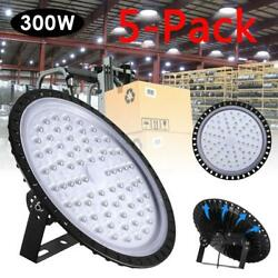 5X 300W UFO LED High Bay Light Shop Lights Warehouse Commercial Lighting Lamp