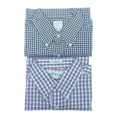Orvis Brooks Brothers Mens Lot Of 2 Oxford Shirt Multicolor White Gingham L $34.97