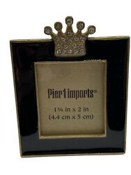 Pier 1 Imports Mini Frame Princess Crown Rhinestone Pageant Picture Gift $13.99