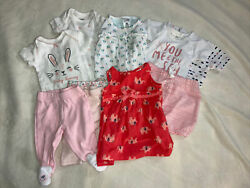 Lot Of Baby Girl Clothes Newborn Summer 10 Pieces EUC $20.00