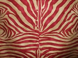 Lee Jofa quot;DINISENquot; Large Scale Tiger Fabric 7.5 15 yds Red Taupe Made in Italy $329.00