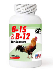 B 15 and B 12 for Roosters 100 Tablets SF $12.39