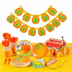Lil Pumpkin Party For 24 Party Supplies 192 Pieces $87.97