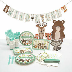 Woodland Party For 24 Party Supplies 193 Pieces $99.63