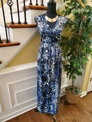 NEW DIRECTIONS Maxi Length Dress Size 2X Stretchy Necklace Set Included $33.00