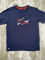 Boys 12 Lacoste Croc Navy Blue Shirt $12.99