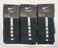 3 Nike Elite Crew Kids Socks 2 Pack 5Y 7Y Size 360 Degree Arch Support $29.99