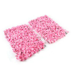 Pink 24#x27;#x27;x16#x27;#x27; Wall Flowers Cushion Artificial Decor Backdrop Wall Decoration US $74.05