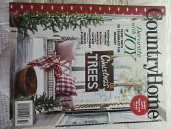 COUNTRY HOME WINTER 2020 holiday sampler xmas cottage journal living $6.99