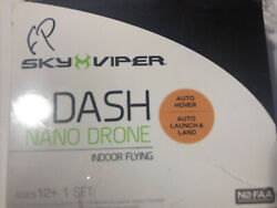 SKY VIPER DASH NANO DRONE FOR PARTS NO CABLE $9.99
