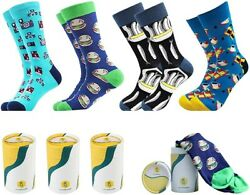 CitySokken Fun Socks for Men Crew Socks Mens Dress Socks Colorful Funny Mens $20.00