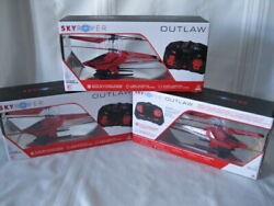 New Sky Rover Outlaw Remote Control Red Helicopter $12.00