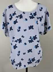 Simply Styled by Sears Womens Top M Short Sleeved Floral $8.00