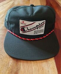 Champion Adjustable Snapback Hat Black New With Tags One Size $19.99