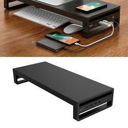 Metal Computer Monitor Stand Computer Riser Support Office Organizer Sturdy $54.32