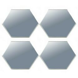 24 Pcs Large Hexagon Mirror Tile Wall Stickers Decal Home Decor Self Adhesive $7.40