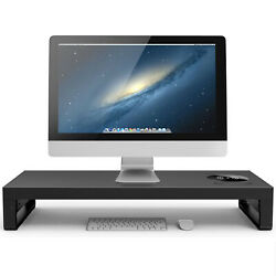 Metal Laptop Monitor Desk Stand with Wireless Charger Computer Riser Support $84.83
