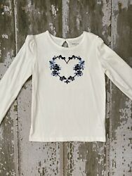 Girls 8 Janie And Jack Long Sleeve Floral Shirt $15.99