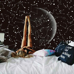 Universe Moon Star Throw Wall Hanging Rooms Blanket Bedspread Tapestry Decors $19.47