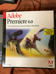 Genuine Adobe Premiere 6.0 for Microsoft Windows With Serial Number And Guide $125.00