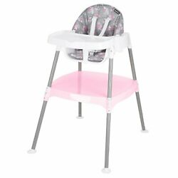 Evenflo 4 in 1 Eat amp; Grow Convertible High Chair Poppy Floral Infant Toddler NEW $75.00