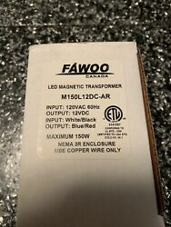 FAWOO LED DIMMABLE 150W 12VDC LED MAGNETIC DRIVER TRANSFORMER M150L12DC AR $59.00