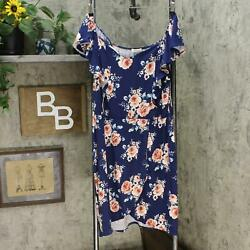 monteau Trendy Plus Size Printed Sweetheart Dress. PL500019 Navy Floral 3X $19.00