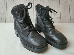 LL Bean Womens Boots. Black Leather Lace Up. Size 7.5M $24.99