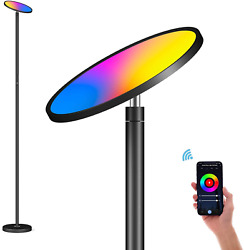 Modern Lamp Floor Led Light Standing Dimmable Reading Home Touch Control App $86.61