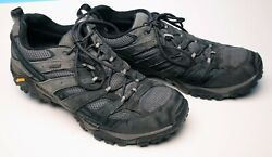 MERRELL GRANITE BLACK amp; GRAY LEATHER amp; SYNTHETIC ATHLETIC SHOES MENS 13 SHARP $21.95