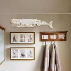Wooden Whale Decor Hanging Wood Whale Decorations for Wall Hanging Whale Art $59.99