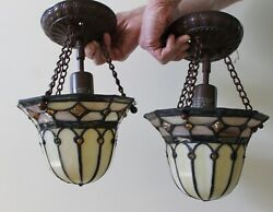 Two Tiffany style Hanging Lamps $80.00