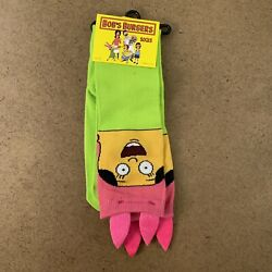 Ripple Junction One Size Colorful Bob#x27;s Burgers Novelty Knee High Socks NWT $10.19