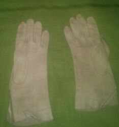 Vintage Leather Gloves Women#x27;s Gray $13.49